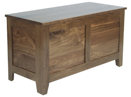 Shaker Chest, Walnut Hardwood, Natural Finish