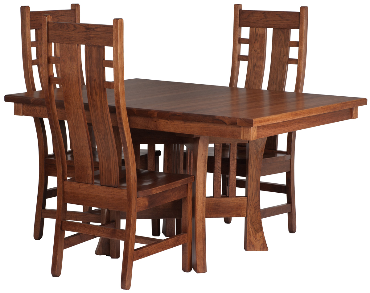 Wooden craftsman table and chairs pdf plans for Free dining chair plans