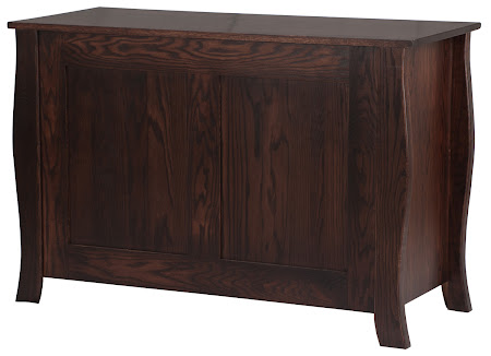 Cascade Horizontal Dresser in Twilight Oak, Solid Wood Rear Panel