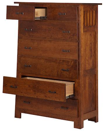 Teton Vertical Dresser in Antique Cherry