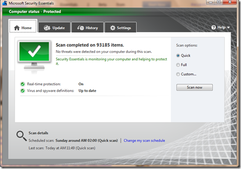 Microsoft Security Essentials 2 Beta