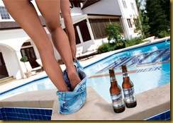 Busch Beer Legs