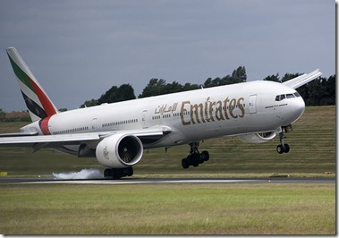 Emirates Air Landing
