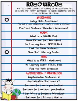 sentence structure unit 2