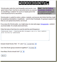 WordCounter on Cyber-Net