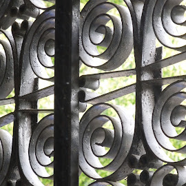 Swirling Wrought Iron by Jerry Heger - Buildings & Architecture Architectural Detail ( detail, metal, washington dc, wrought iron, steel )