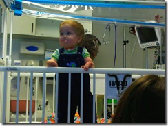 Elias! standing in day hospital