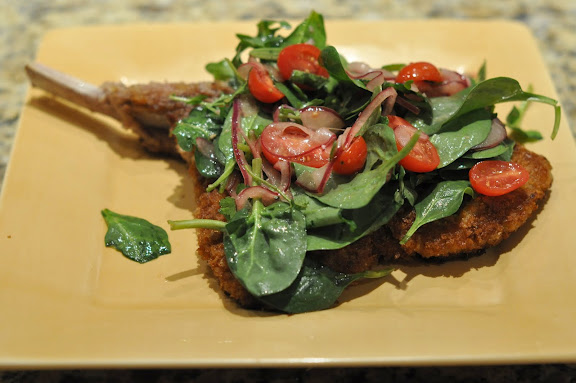 Veal Chop Milanese with Arugula Salad | Foodie Lawyer