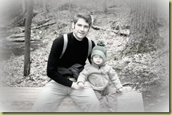 Seb & Daddy hiking