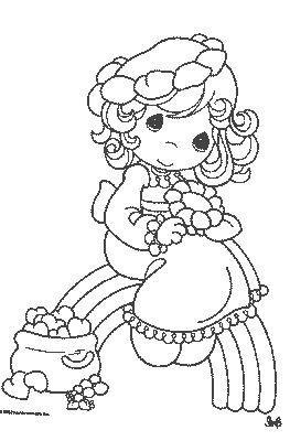 Colorir bonecas desenhos bonecas para colorir bonecas - Coloriage pour petite fille ...