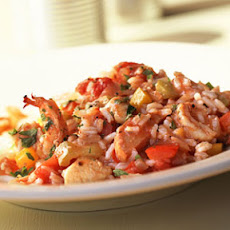 Peppered Chicken-and-Shrimp Jambalaya