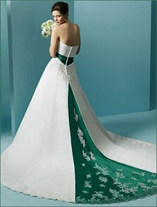green wedding dresses