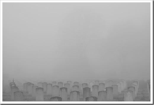 Rheindahlen  Military Cemetary in Fog