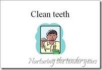 Clean teeth card
