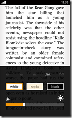 Amazon Kindle for Windows Phone 7 (click to enlarge)2