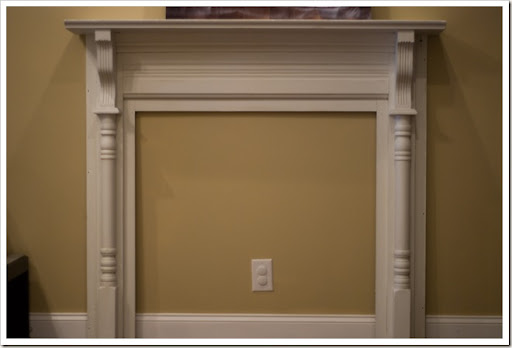 ohgraciepie faux fireplace mantels. faux marble fireplace mantel ...