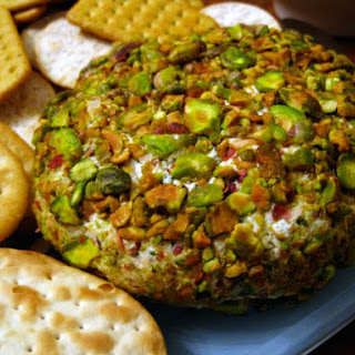 Cheese Ball with Cumin, Mint, and Pistachios