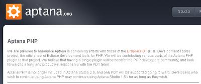 Aptana PHPについて