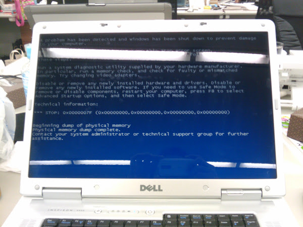 ブルースクリーン(Blue Screen of Death, BSoD)