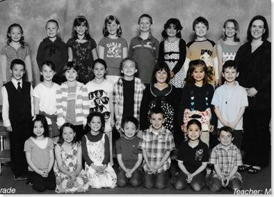 Eden's 1st grade class