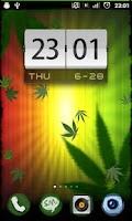 Screenshot of Falling Weed Live Wallpaper
