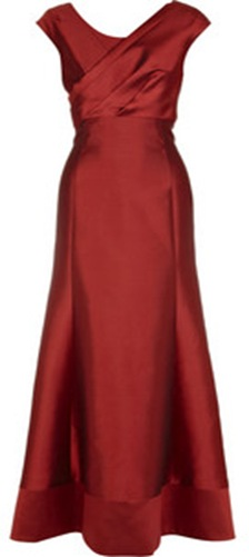 lela Rose scarlet gown