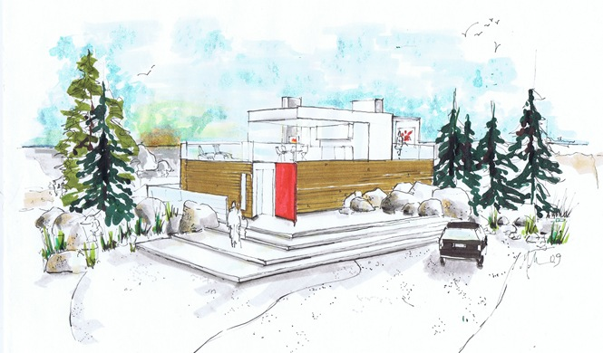 modern beach house rendered june 09