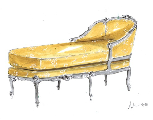 french chaise dwg