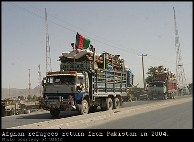 Afghan refugees return from Pakistan