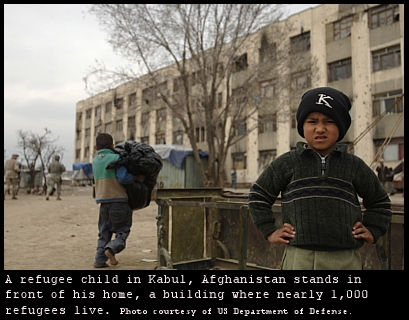 Kabul refugee child