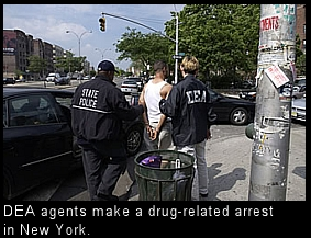 US drug arrest