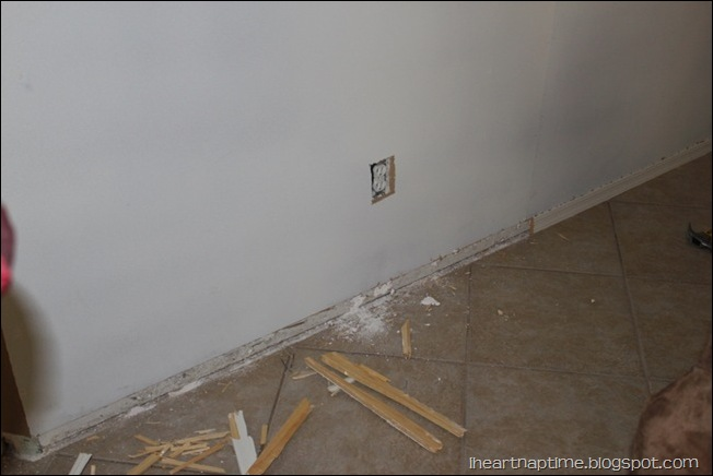 removing baseboard