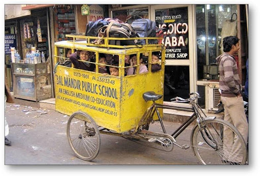 shocking and funny school bus in India