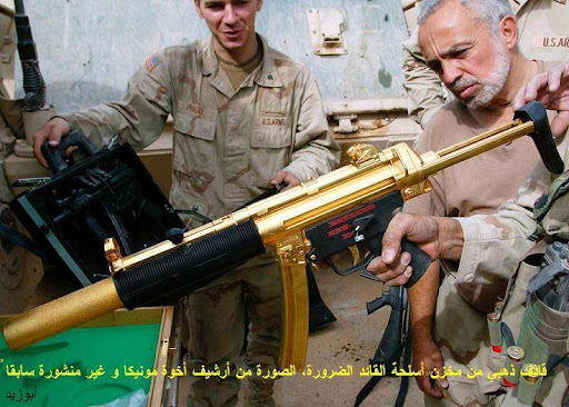 Saddam Hussein's Guns Made of Gold