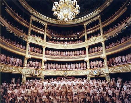 Spencer Tunick's nude group photography - Amazing  Mass Formation