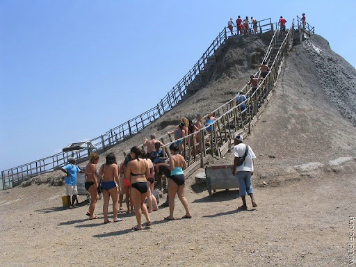 Mud bath in chile, weird