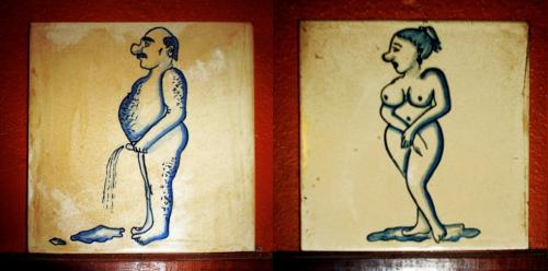 weird restroom sign