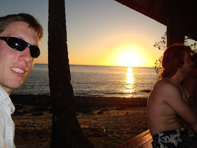 Sunset op Mana island
