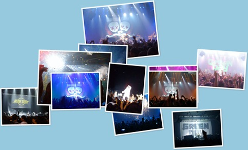 View 20100112 Green Day Live in BKK from my Cellphone (SE W890i)