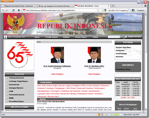 website pemerintah ri