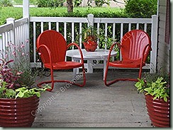 red metal chairs houzz