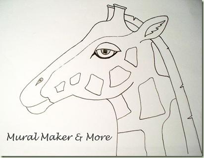 giraffe paint pattern