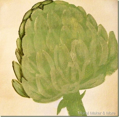 how to paint artichoke