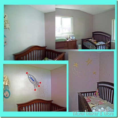 Shared boy/girl room mural