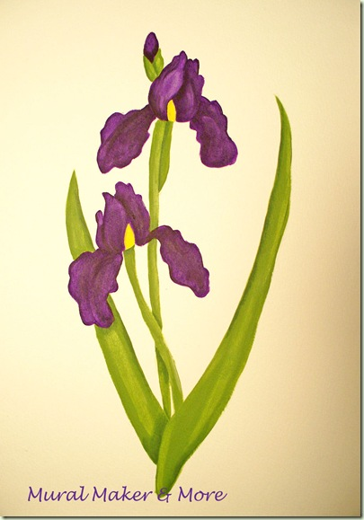 purple iris paint tutorial
