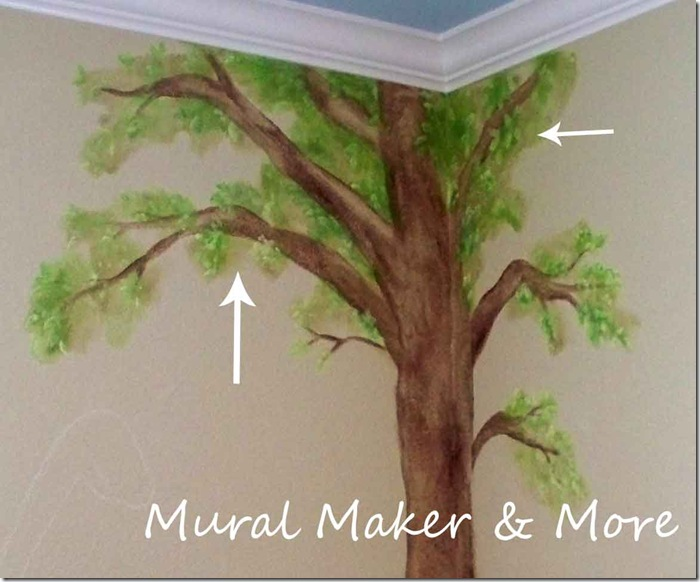 How to paint a simple tree mural just paint it blog for How to paint a tree