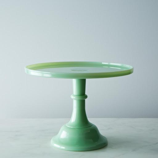 """Jadeite Glass 10"""" Cake Stand"""