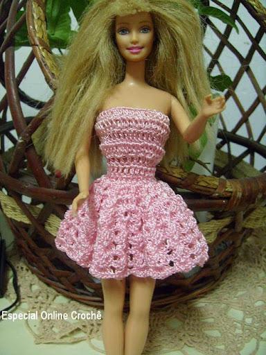 vestido de barbie de croche