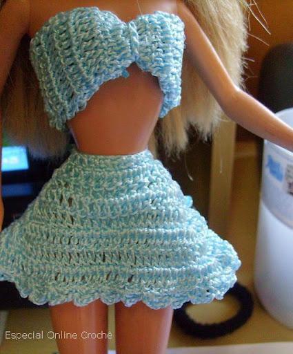 roupinha de croche para barbie