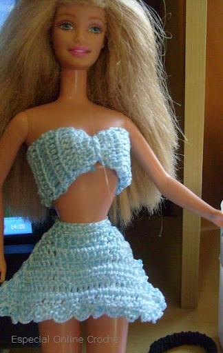 roupa de croche para barbie